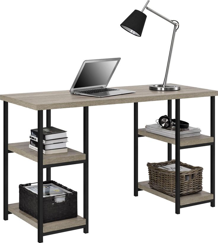 Altra Elmwood Double Pedestal Desk, Sonoma Oak
