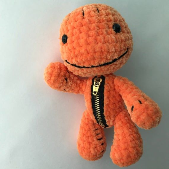 PDF Pattern Crochet Toy Sackboy Pumpkin and Sackboy Yeti Amigurumi Halloween Pattern
