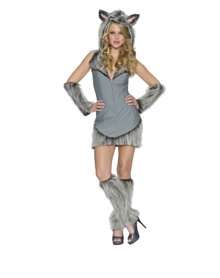 Gray Wolf Women's Costume at Spirit Halloween - Who says hairy legs aren't sexy? Men will be howling at you in this Gray Wolf Women's Costume! The animal inside you will be ready to come out and play wearing this sexy dress with attached hood, detachable tail, and arm/leg warmers. Watch out 'cause this one can't be tamed! Get yours for $89.99.