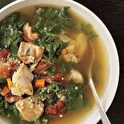 Chicken, Kale, and Quinoa Soup   CookingLight.com