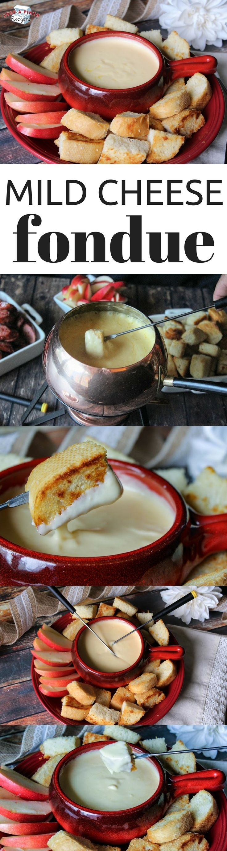 Easy homemade cheese fondue recipe!