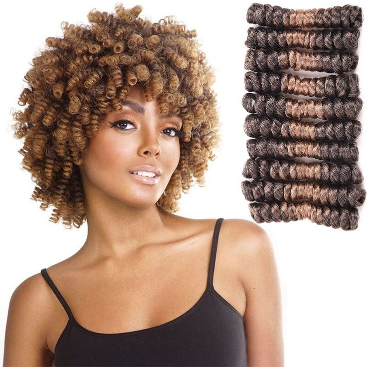 8inch Crochet Hair Synthetic Hair Extensions Crochet Braids Short Afro Spring Twist Hair