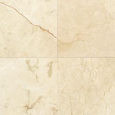 Daltile natural stone collection crema marfil 12 in x 12 - Best paint color for crema marfil bathroom ...