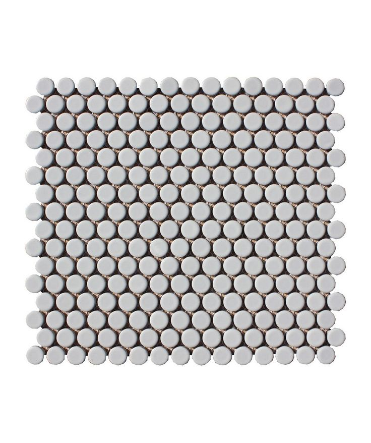 Shapes Circle Matt White 19mm Mosaic Tile