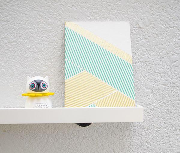 DIY :: washi tape art