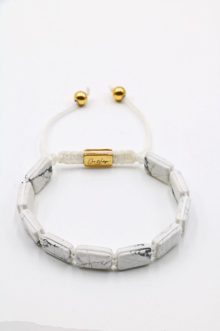 White Howlite Plated Bracelet