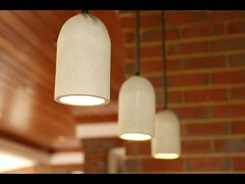 HomeMade Modern, Episode 6 -- DIY Concrete Lamp - YouTube
