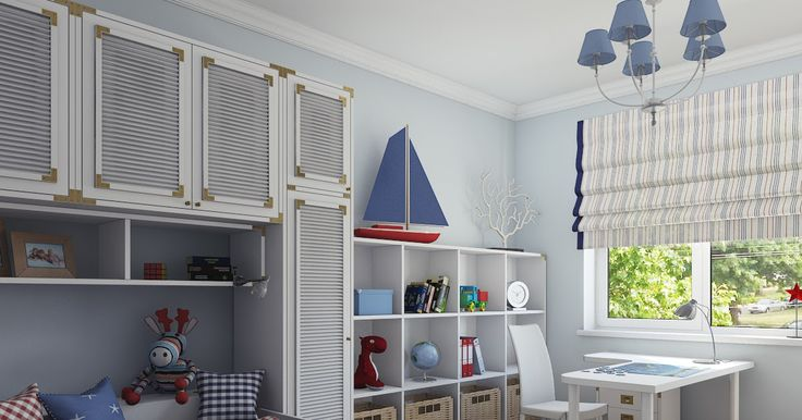 Дизайн и визуализация интерьеров: Детская комната в морском стиле