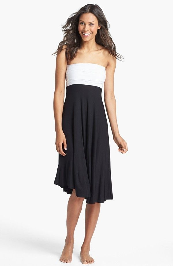 ELAN Convertible CoverUp Dress/Skirt Black/White $32 LARGE AUTHENTIC DESIGNER SELECTION VISIT:  www.shorecasuals.com