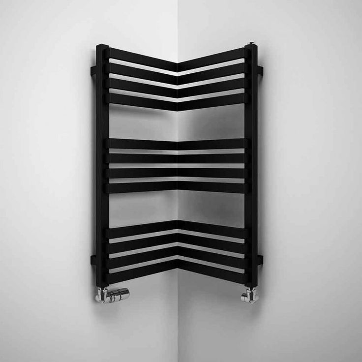Runtal Towel Warmers Perfect for small bathrooms, this corner radiator makes use of all the ...