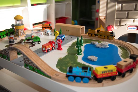 Diy Train Table Using Lack Coffee Table Would Use Amercanpaint And Do Car Train Table For Patio