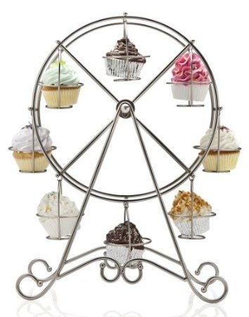 Ferris Wheel Cupcake Server, Holds 8 Cupcakes: Home & Kitchen