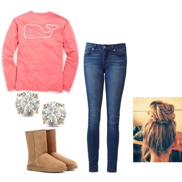 Vineyard vines by madisonraexoxo on Polyvore featuring Vineyard Vines, Paige Denim, UGG Australia and Auriya