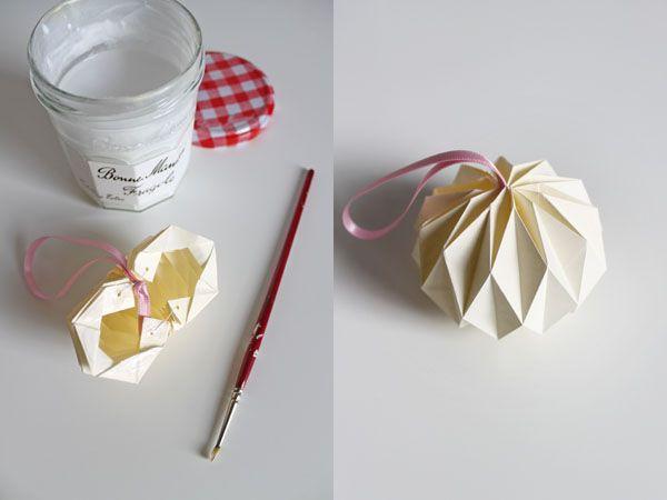Origami ozdoba nielen na vianočný stromček   Návod ako sa to robí 9