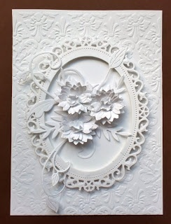 Charmingly Creative: Simple White (Spellbinders Floral Ovals)