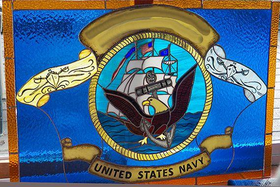 United States Navy Flag by ArbutusGlass on Etsy, $500.00