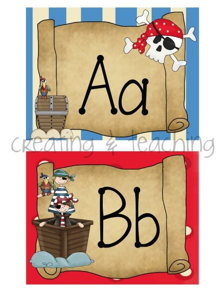 pirate classroom ideas   Pirate Word Wall Cards