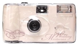 Ring Cream Disposable Wedding Camera - 10 Pack