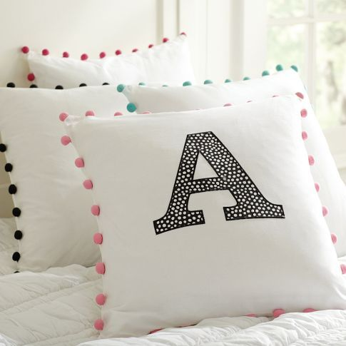 "Great looking pillow...and not because it says ""A""!"