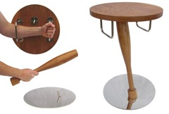An end table that breaks into a bludgeon and shield.  For catching a yeti or defending against zombies.