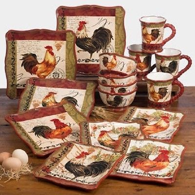 Dinnerware Sets Roosters And On Pinterest