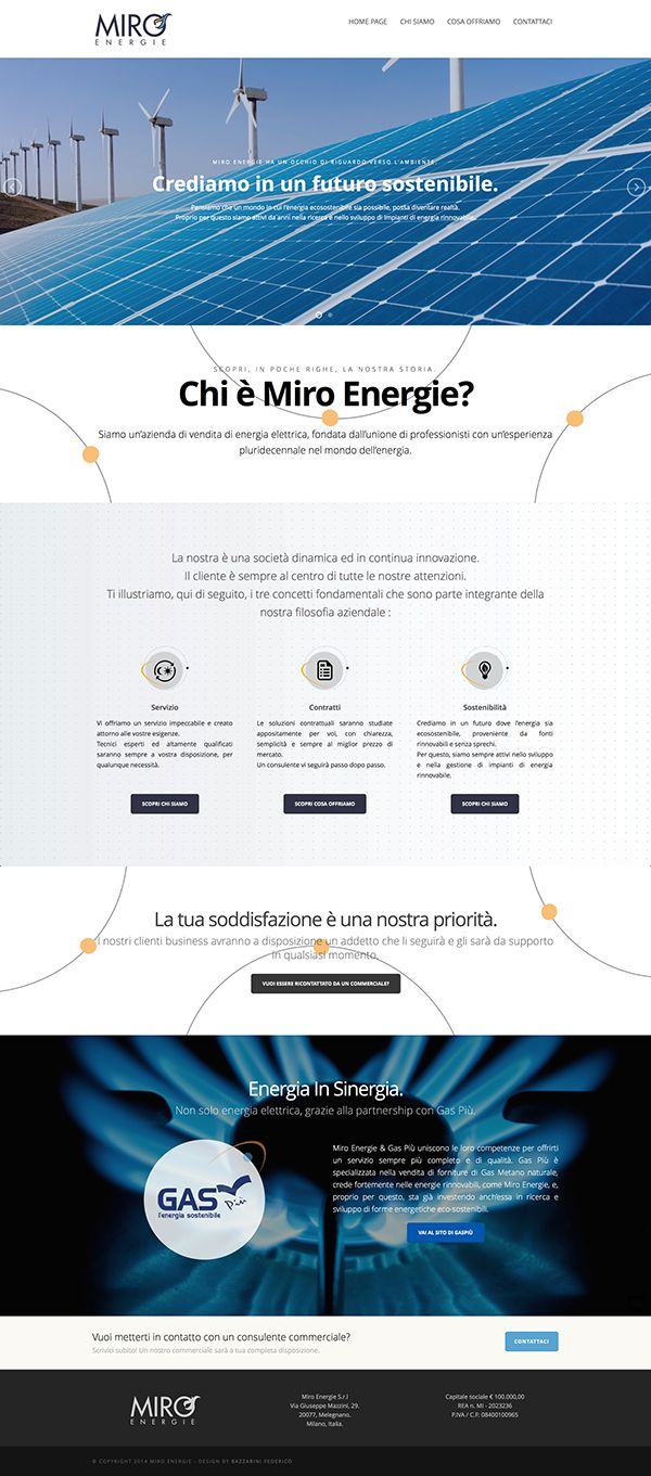 Miro Energie Website by Federico Bazzarini, via Behance