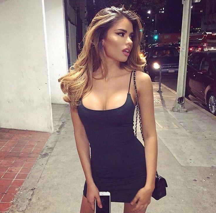 Tight Black Dress Blonde 66