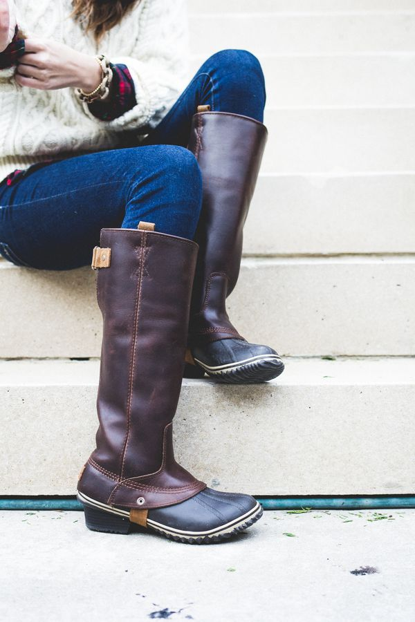 Sorel Rain Boots–The perfect cozy, cloudy day outfit for winter #ootd