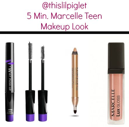 5 Minute Makeup Look for teens from @Marcelle Thompson #MarcelleMoms #beauty Look: Marcelle Lux Cream Eye Shadow +Liner in Sunstone, Twist Push-Up Mascara; Lux Gloss Cream in Spicy Nude