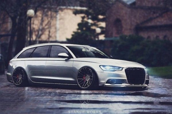 Silver Audi A6 Avant -1 Station Wagon Lowered Beautiful