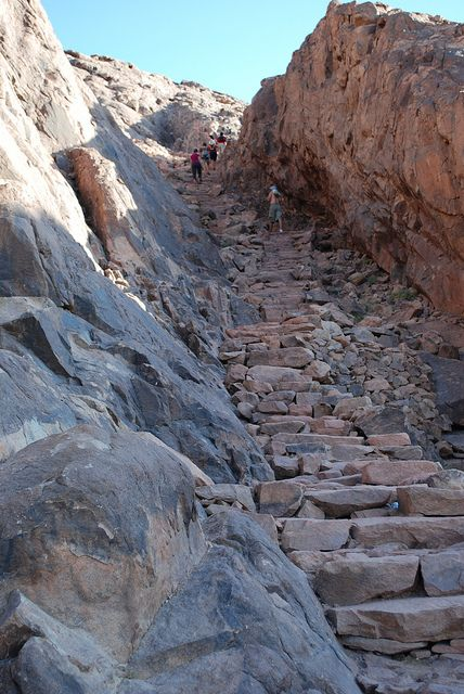 Path to Mount Sinai, EGYPT I Mount Sinai is biblical place where Moses met with God and received the Ten Commandments