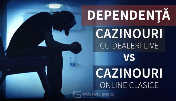 Articole Cazino online pe PariuriX.com: Cazinourile cu dealeri live creează dependență mai mare decât cazinourile online clasice?
