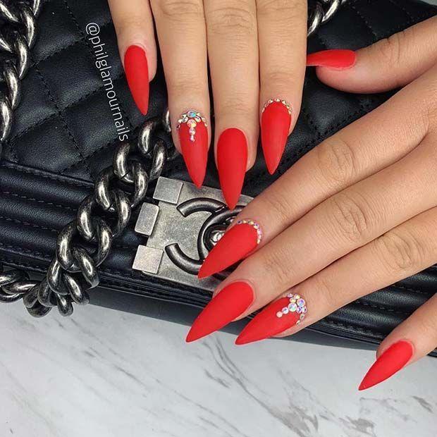 21 Hübsche Möglichkeiten, rote Nägel zu tragen Kostenlose Anleitungen und Anleitungen #nails #pretty #rednail – Nails