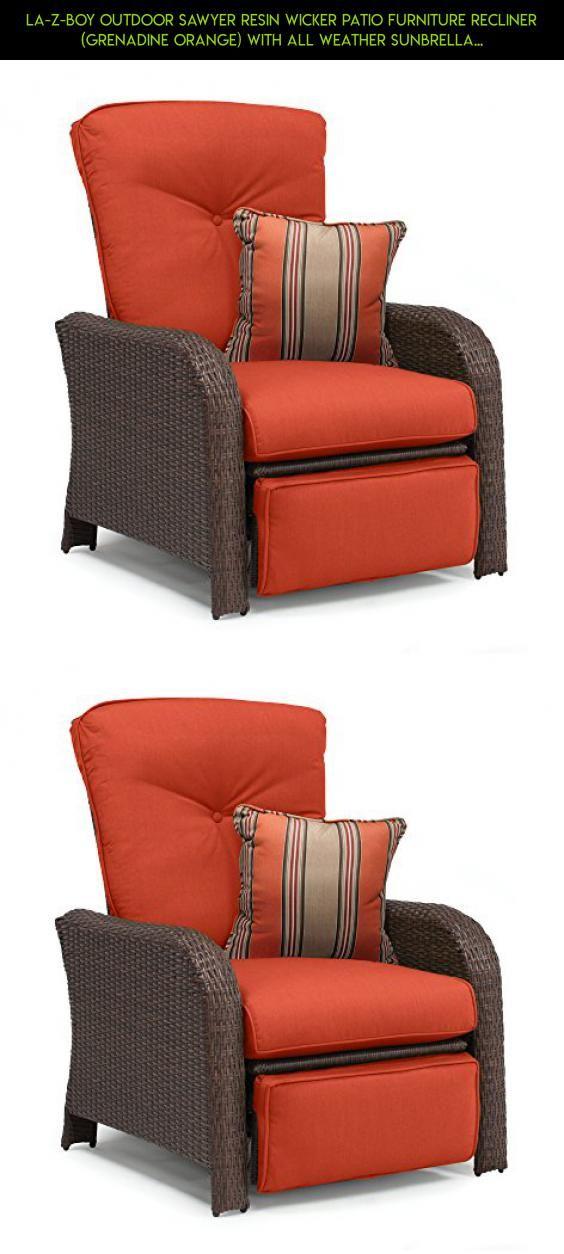 La Z Boy Outdoor Sawyer Resin Wicker Patio Furniture Recliner (Grenadine  Orange)