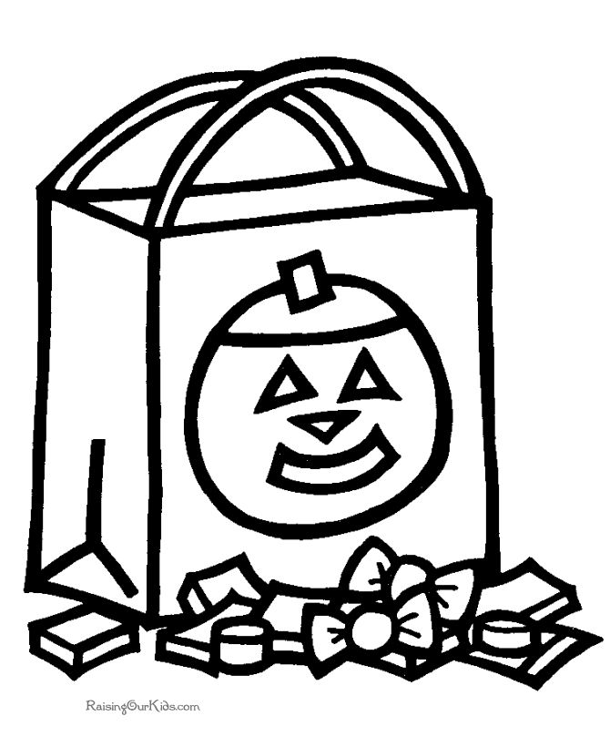 preschool coloring halloween pages - photo#2
