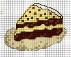 fetta di torta al cioccolato - punto croce  - cross Stitch - Kreuzstich - Punto de Cruz