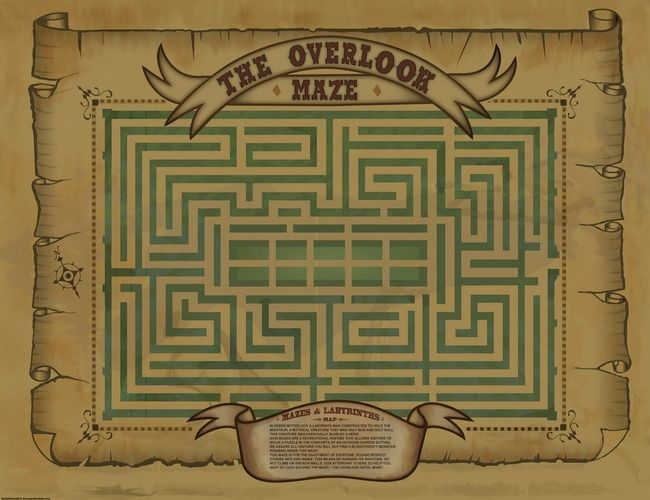 """Overlook Hotel Maze Map"" by Dave Delisle 