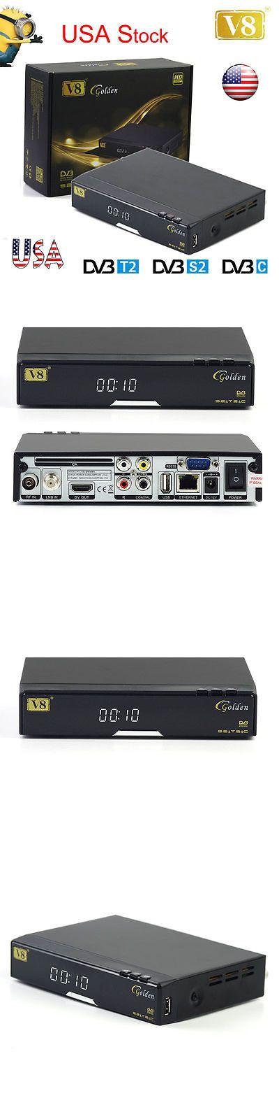Satellite TV Receivers: Genuine Fta Freesat V8 Golden Full Hd Dvb-S2 Dvb-T2 Dvb-C Satellite Tv Receiver -> BUY IT NOW ONLY: $56 on eBay!
