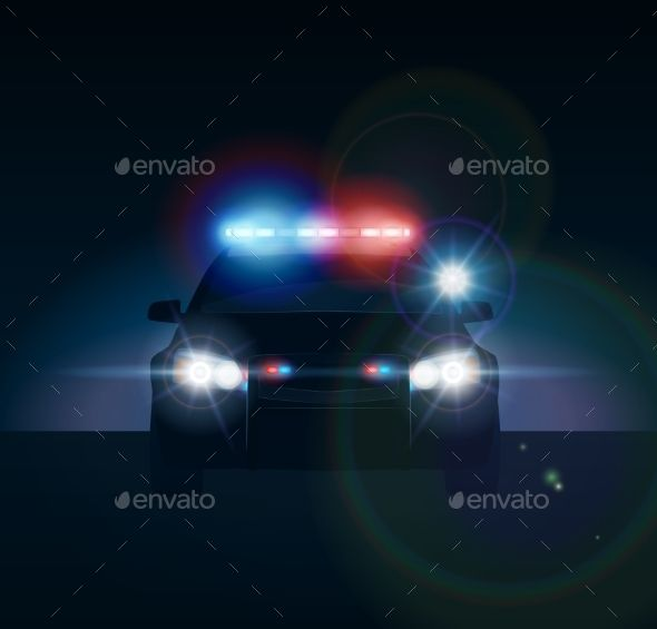 Police Car at Night.