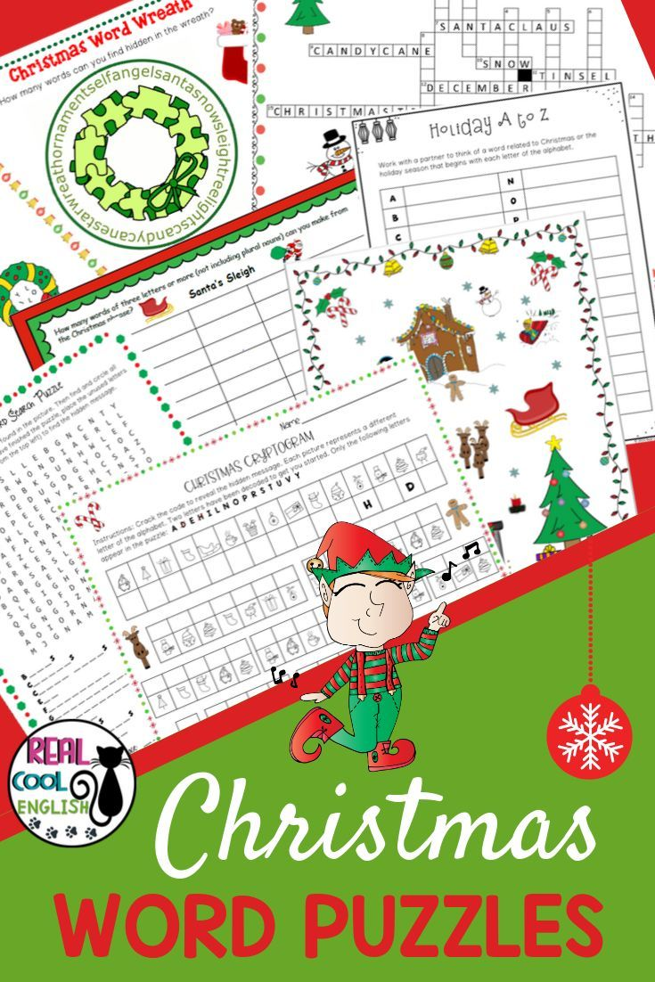 Fun Variety Of Christmas Word Puzzles That Will Get Your Students Thinking Nine Different Types Of Puzzles Inc Christmas Words Word Puzzles Holiday Activities