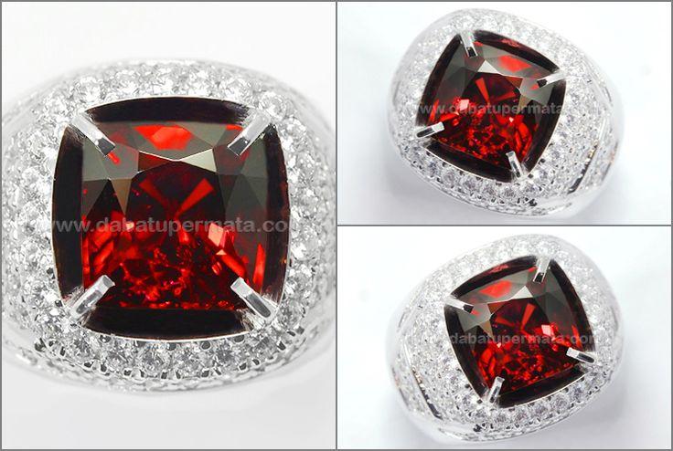 Natural No Heat Sparkling Red GARNET Crystal Bling-Bling - RGR 019