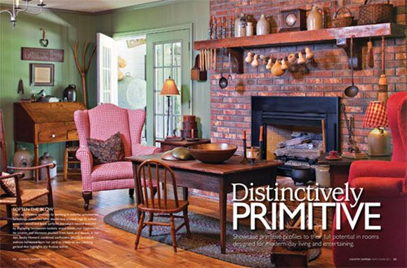 Tours Of Primitive Country Homes Home Tour Edition 2011