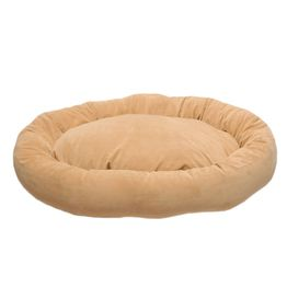 Carolina Pet Company Large Microfiber Bagel Bed - Carmel 1481 #home Carolina Pet Company Mircofiber Bagel Bed, Carmel - 01481Product Features 360? of velvety microfiber wraps your pet in luxury. Reversible pillow inser...