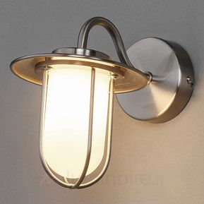 Viala - Applique salle de bain LED G9, nickel mat