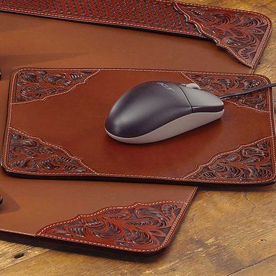 Tooled Leather Mouse Pad | King Ranch
