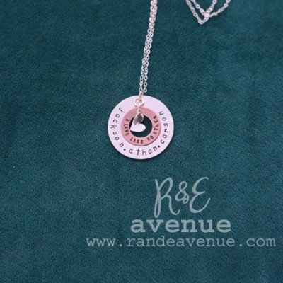 This is a custom double washer hand-stamped/personalized necklace. Follow us at facebook.com/randeavenue.com. Bought these for Ava's kindergarten teachers for the end of the year- so adorable!Double Wash Necklaces, Ava Kindergarten, Kindergarten Teachers, Washer Necklaces, Doublewash Necklaces, Jessica Necklaces, Handstampedperson Necklaces