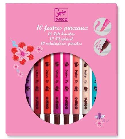 Filctoll ecset készlet lányos színekben 10 db (Djeco) | Pandatanoda.hu Játék webáruház