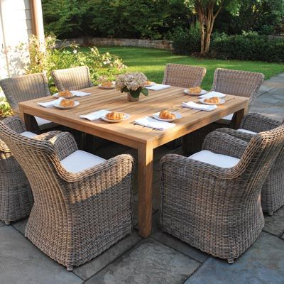 Marvelous The Kingsley Bate Sag Harbor Collection Is Made From The Finest All Weather  Wicker. Outdoor SpacesOutdoor Dining TablesOutdoor ... Part 15