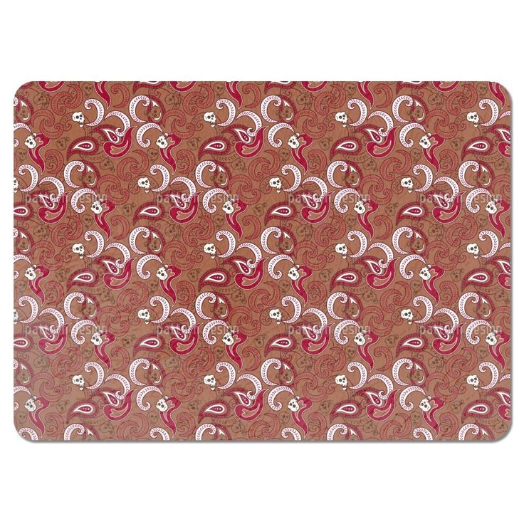 Uneekee Rocking Orient Brown Placemats (Set of 4) (Rocking Orient Brown Placemat) (Polyester)