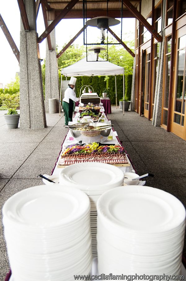 Buffet Table on our Patio! Great for Summer Weddings